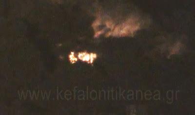 Video από τη φωτιά στην Άσσο