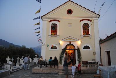 Από τον πανηγυρικό εσπερινό στην Κοίμηση Θεοτόκου Χαλιωτάτων Κεφαλληνίας (φωτογραφίες)
