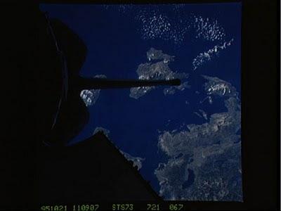 Η Κεφαλονιά και η Ιθάκη από το διάστημα